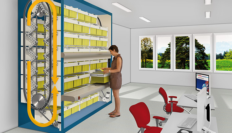 Vertical Carousel Storage Systems | Business Systems & Consultants