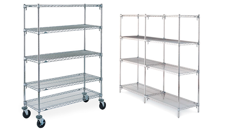 Chrome Shelving Units | Business Systems & Consultants