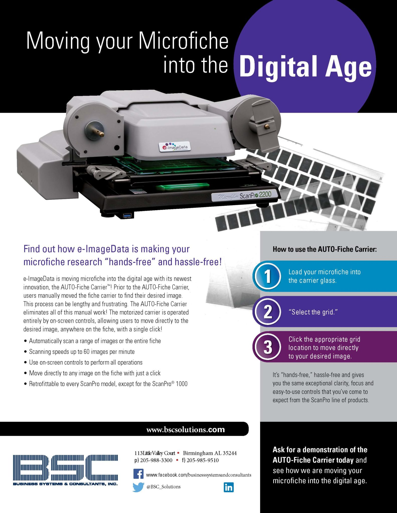 """FIND OUT HOW BSC IS MAKING YOUR MICROFICHE SCANNER """"HANDS FREE"""""""