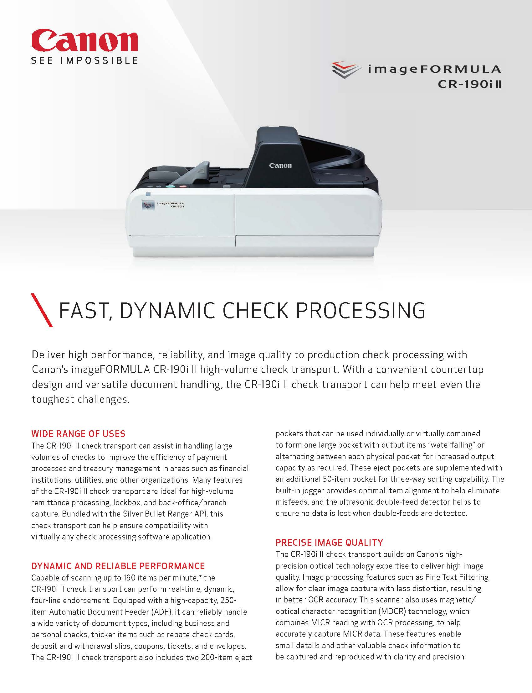 NEW: FAST, DYNAMIC CHECK PROCESSING