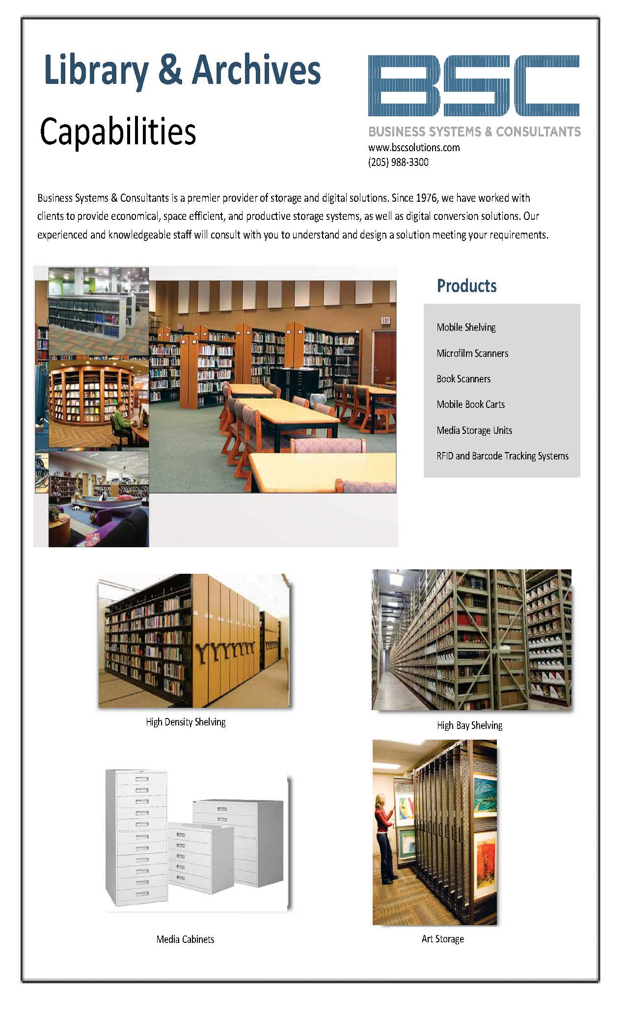 BSC Library & Archives Capabilities