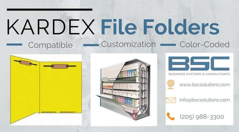 Optimum Organization with Kardex Compatible File Folders