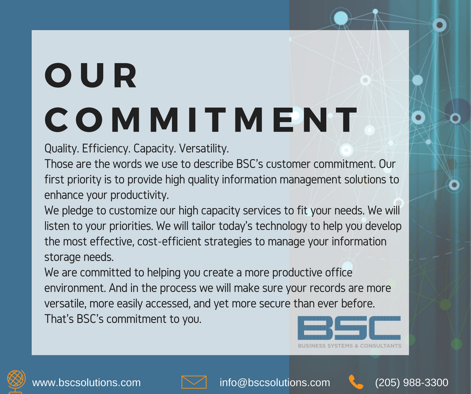 Business Systems & Consultants, Inc. Commitment to You