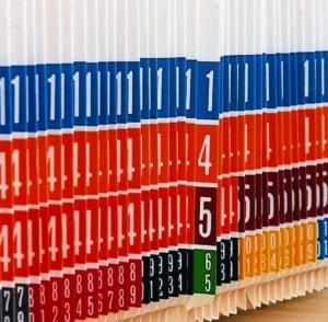 color coded folder labels